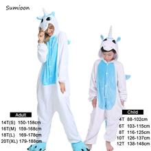 Chłopcy dziewczęta piżamy ustawia Panda jednorożec piżamy dla kobiet mężczyzn Onesie dorosłych zwierząt piżamy Stitch Kigurumi zimowe piżamy dzieci tanie tanio sumioon COTTON Poliester 85(100) 95(110) 105(120) 115(130) 125(140) S M L XL Pajamas Sets Cartoon Pasuje prawda na wymiar weź swój normalny rozmiar