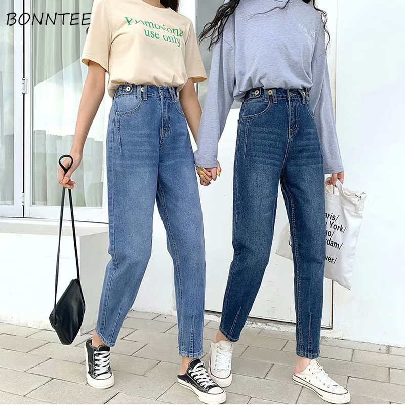 Jeans Women Large Size 5XL High Waist Ankle-length Trousers Womens Denim Classic All-match Korean Style Harajuku Straight Casual