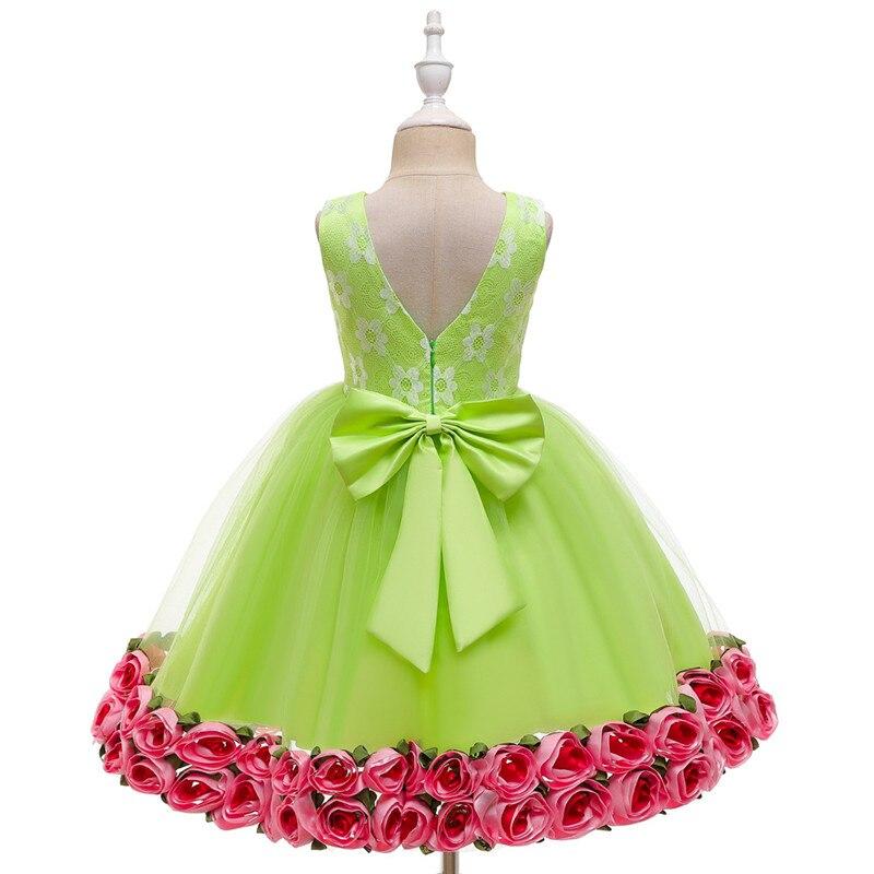 New Summer Newborn Kids Wedding Dress Baby Girl Flower Puffy Dress 0-6 Years Child Girl Birthday Party Costume
