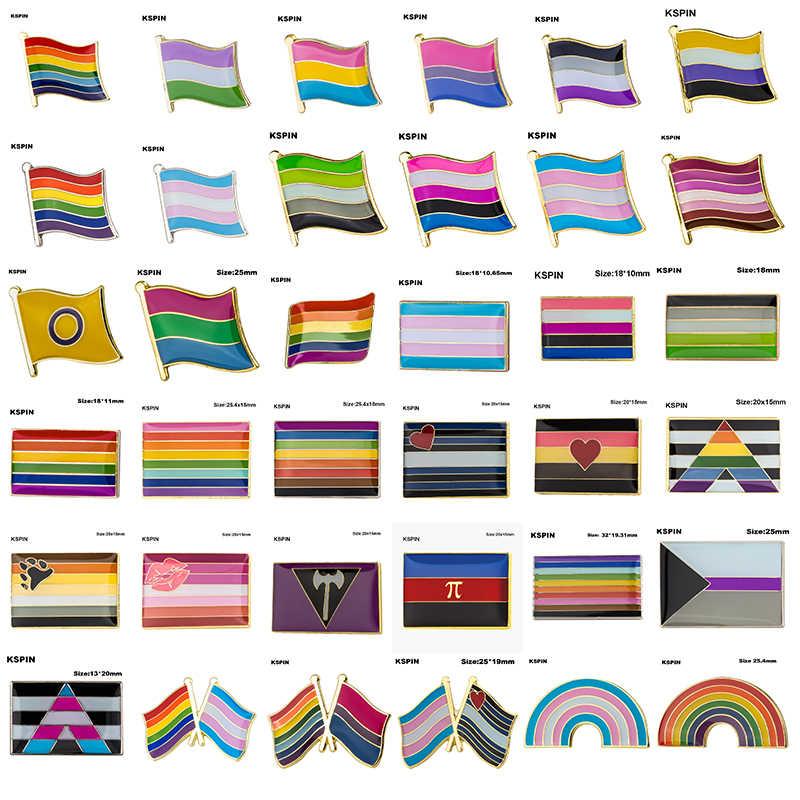 Lgbt Pride Badge Transgender Geslacht Vloeistof Aromantic Genderqueer Pansexual Biseksuele Aseksuele Nonbinary Lippenstift Lesbische Polyamorou