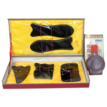Wholesale & Retail Traditional Acupuncture Massage hard box Gua Sha kit 5pcs/set  +1pcs chart +1bottle guasha oil 100% ox horn 1pieces lot wholesale traditional acupuncture massage tool guasha oil 50ml piece scrapping skinscraping gua sha therapy
