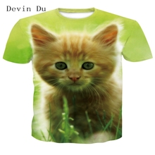 Du Wolf t-shirts 3D Mannen T-shirts Novelty Animal Tops Tees Mannelijke Korte Mouwen Zomer Ronde Hals T-shirts dropshiping