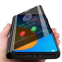 Huawei psmart-funda con tapa para teléfono huawei y p smart 2021, carcasa con espejo para dormir inteligente, soporte magnético para libro de 2021 pulgadas, 6,67