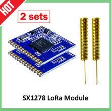 433mhz RF LoRa module 2pcs SX1278 PM1280 Long-Distance communication Receiver and Transmitter SPI LORA IOT+2pcs 433MHz antenna