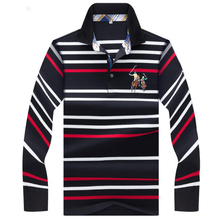 2019 men polos Autumn winter new polo shirt High quality brand cotton mens Business casual striped