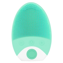 Electric Silicone Cleansing Instrument Ultrasonic Vibration Massage Instrument Wash Brush Facial Pore Cleaner Beauty Tool(Blue) ultrasonic face wash electric wash artifact cleansing instrument wash pores cleaner multi function wash brush