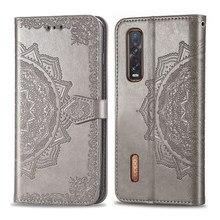Moda caso de couro para oppo encontrar x2 pro capa magnética carteira cartão flip capa para oppo a8 suporte saco do telefone encontrar x2 pro caso