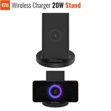 Original Xiaomi Vertical Wireless Charger 20W Stand Horizontal For Mi 9 (20W) MIX 2S / 3 / S10 (10W) Qi Compatible Multiple Safe