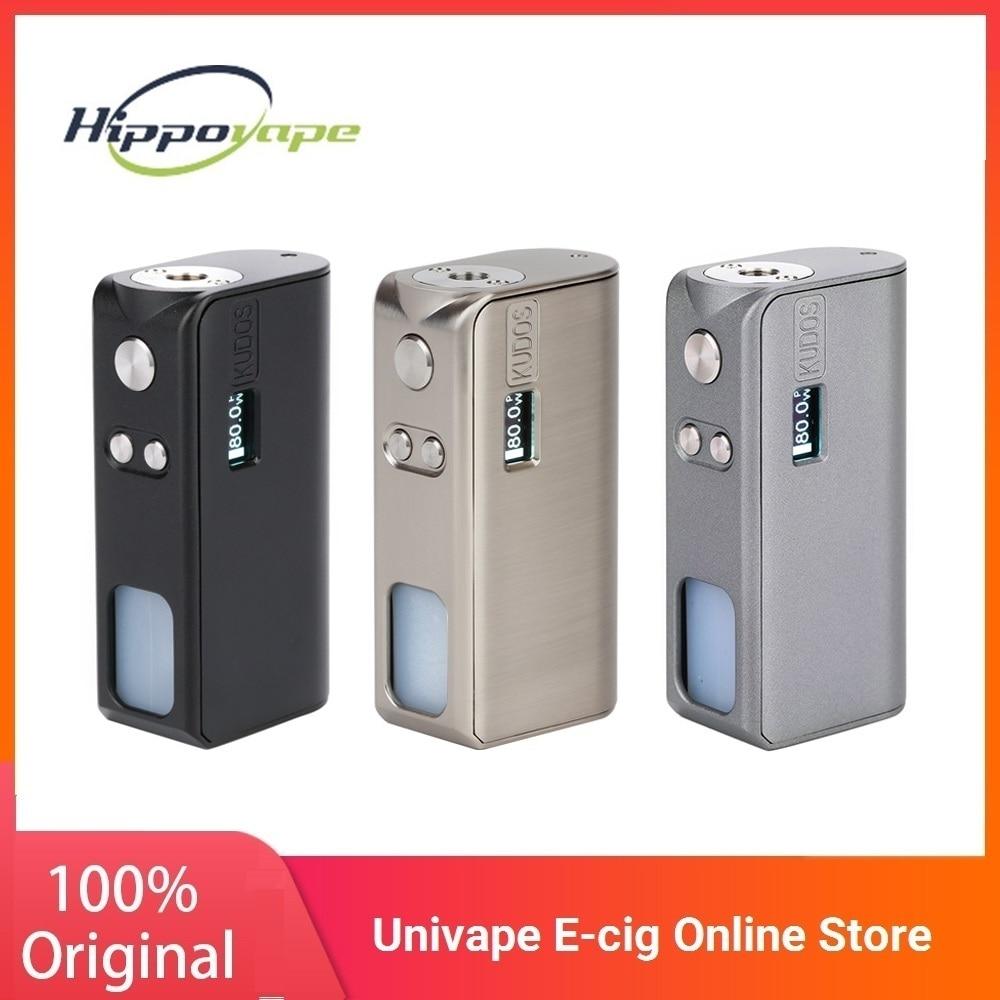 Hot!! Original Hippovape Kudos 80W Squonker MOD Powered By One 18650 Battery No Battery E-cig Vape Box MOD VS Drag 2 / VINCI Mod