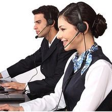 Headphone Telephone-Headset Corded Computer Laptop Offical Mini with for PC Call-Center