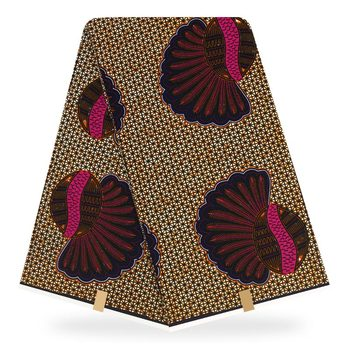 african fabric Guaranteed Veritable Wax cotton African Ankara Real Wax 6 Yards African Printed Fabric 100% cotton