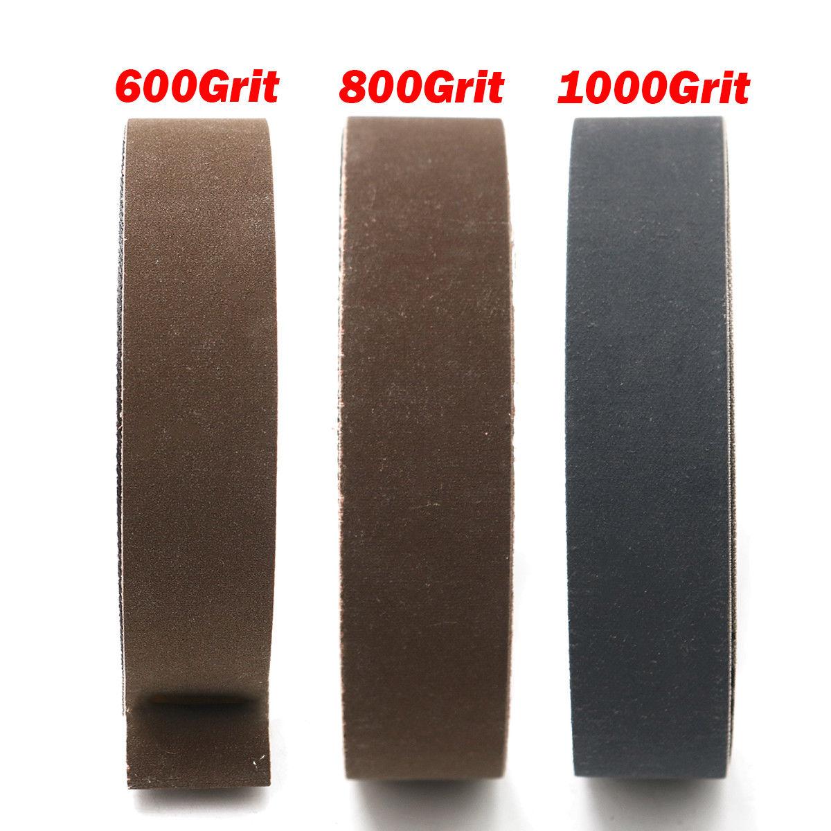 15pcs Polishing And Sanding Replaces Sanding Belt 25mmx762mm  High Performance Sander 600/800/1000 For Angle Grinder Machine