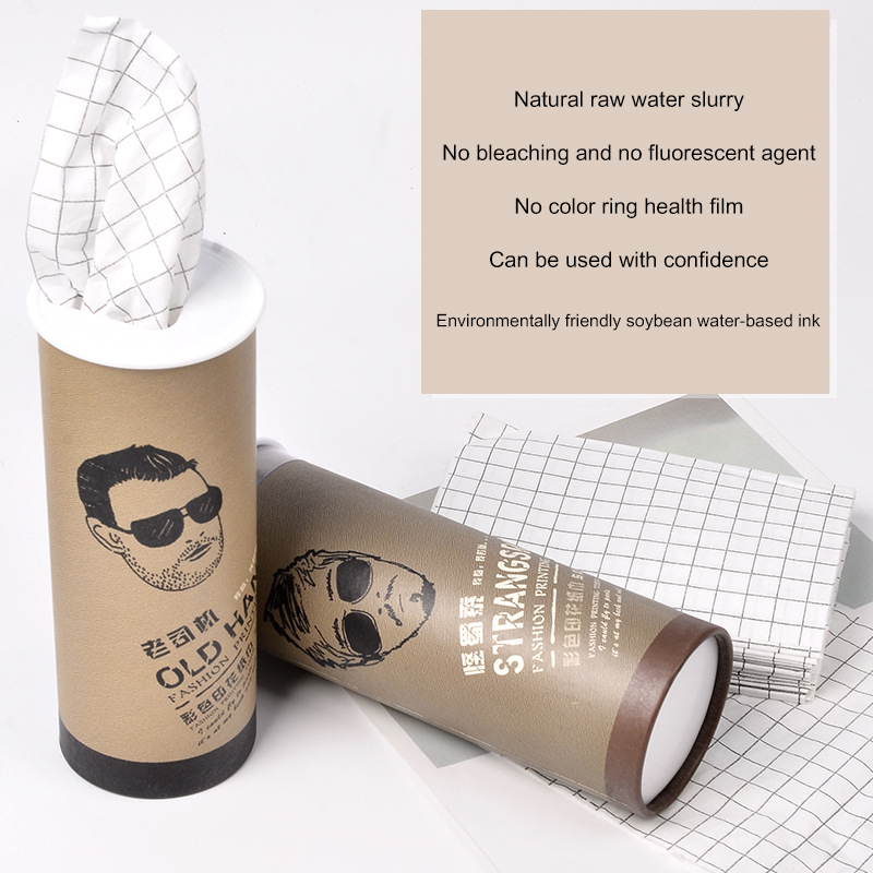 New 3 Pcs Cylinder Car Paper Tissue Box Print Paper Towel 3 Layers Disposable Paper Tissue NEW