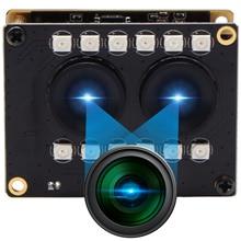 1080P Full HD WDR bez zniekształceń RGB B/W kamera internetowa na podczerwień rozpoznawanie twarzy 2mp podwójny obiektyw moduł kamery USB z diodami podczerwieni