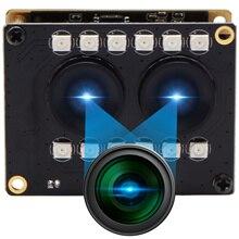 1080P Full HD WDR hiçbir bozulma RGB B/W kızılötesi Webcam kurulu yüz tanıma 2mp çift lens USB kamera modülü ile Ir led