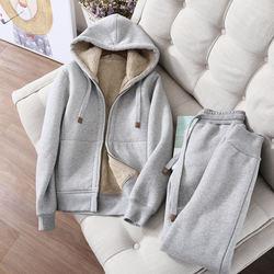 Autumn Winter Plus Velvet Long Sleeve Sweatshirt Sportswear Warm Women Hoodies Sweatshirt Women Oversized Hoodies Jacket  Hk180