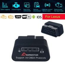 Para lexus is250 is300 is350 rx300 rx350 gs350 es gs gx ls lx lc wifi elm327 obd2 scanner leitor de código 25k80 ferramentas de diagnóstico do carro