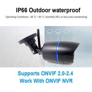 Image 3 - HD 5MP Wifi IP Kamera ONVIF 1080P Drahtlose Verdrahtete CCTV Kugel Kamera Außen Mic Audio TF Karte Slot P2P onvif JIENUO
