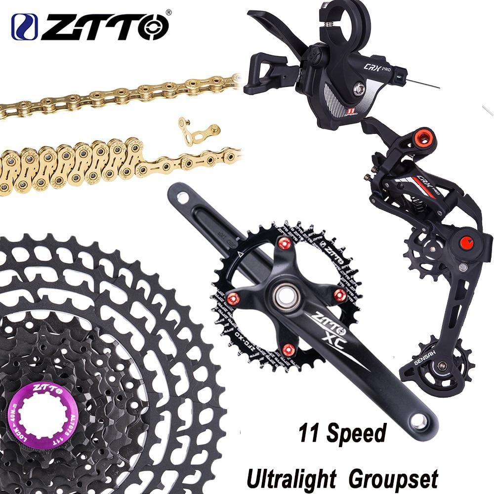 ZTTO Juego de platos y bielas para bicicleta de montaña, grupo de cambio de marchas trasero de 11 velocidades, Cassette ultraligero de Chain11 50T /52T, M8000 M7000