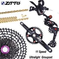 ZTTO MTB 11 Fach gruppe Schaltwerk Shifter Kurbelgarnitur Chain11 50T /52T Kassette Ultraleicht Freilauf Gruppe Set M8000 M7000-in Fahrrad-Umwerfer aus Sport und Unterhaltung bei