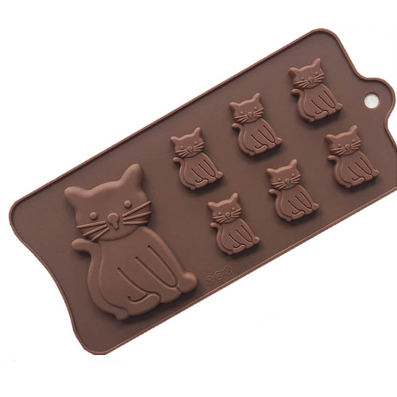 Baking Accessories Cake Decorating Tools Multifunction Cake Fondant Mold Food Grade Silicone Cat Kitten Shape DIY Soap Mould