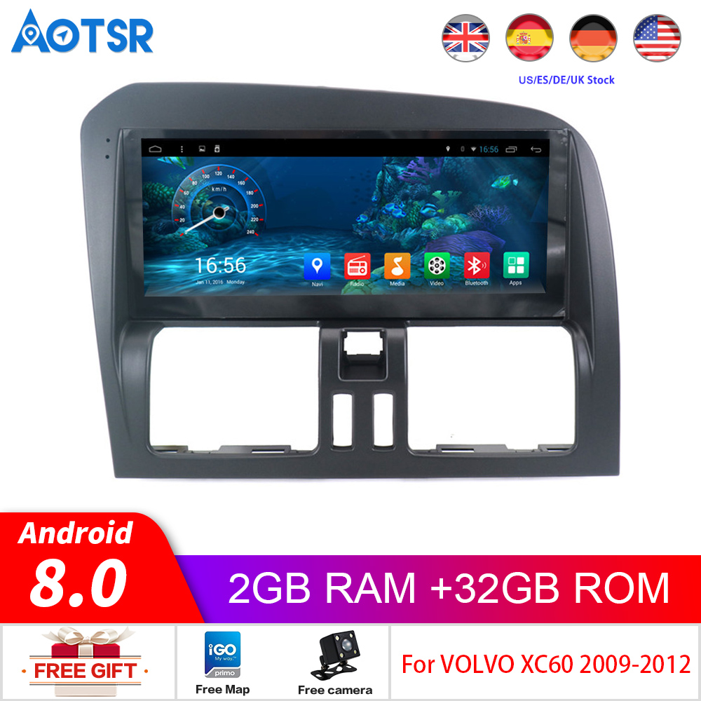 Android 8.0 32G Car Dvd Player Navigation For Volvo XC60 Left Steering Wheel 2009 2010 2011 2012 Radio Stereo Multimedia Headuni