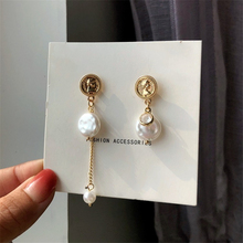 Style restoring ancient ways with coin earrings cultured pearl earrings long chain women stud earrings jewelry accessories ancient ways the new 2019 noble elegant circle mesh hollow out long tassels of pearl earrings earrings and collars