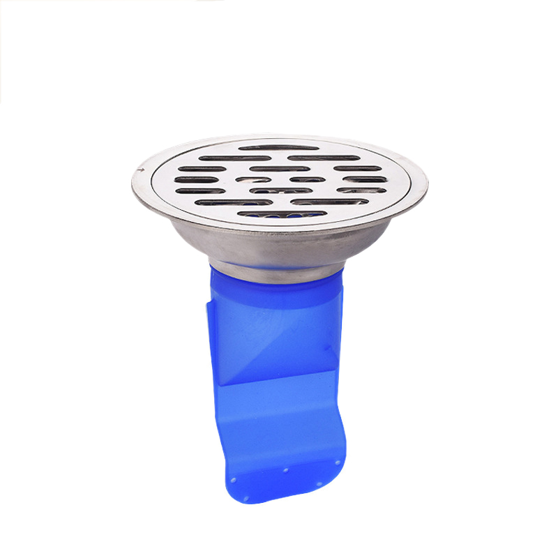 10Cm Silicone Kitchen Strainer Bathroom Pipe Sewer Drain Anti-Odor Pest Control Floor Drain Accessories Round Stainless Steel Co