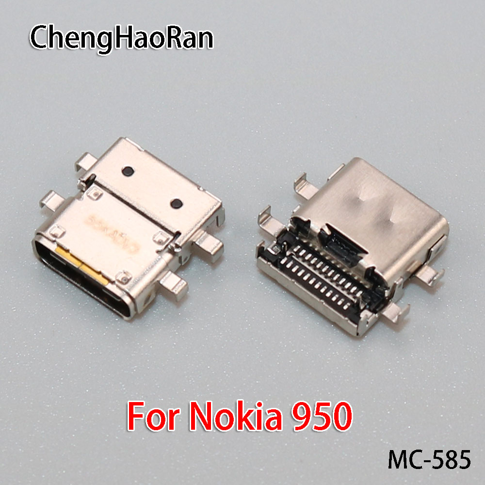 ChengHaoRan 1PCS/lot Micro USB Charger Port type-c For Nokia 950 / 950XL Dock Connector Flex Cable Replacement Repair Part image