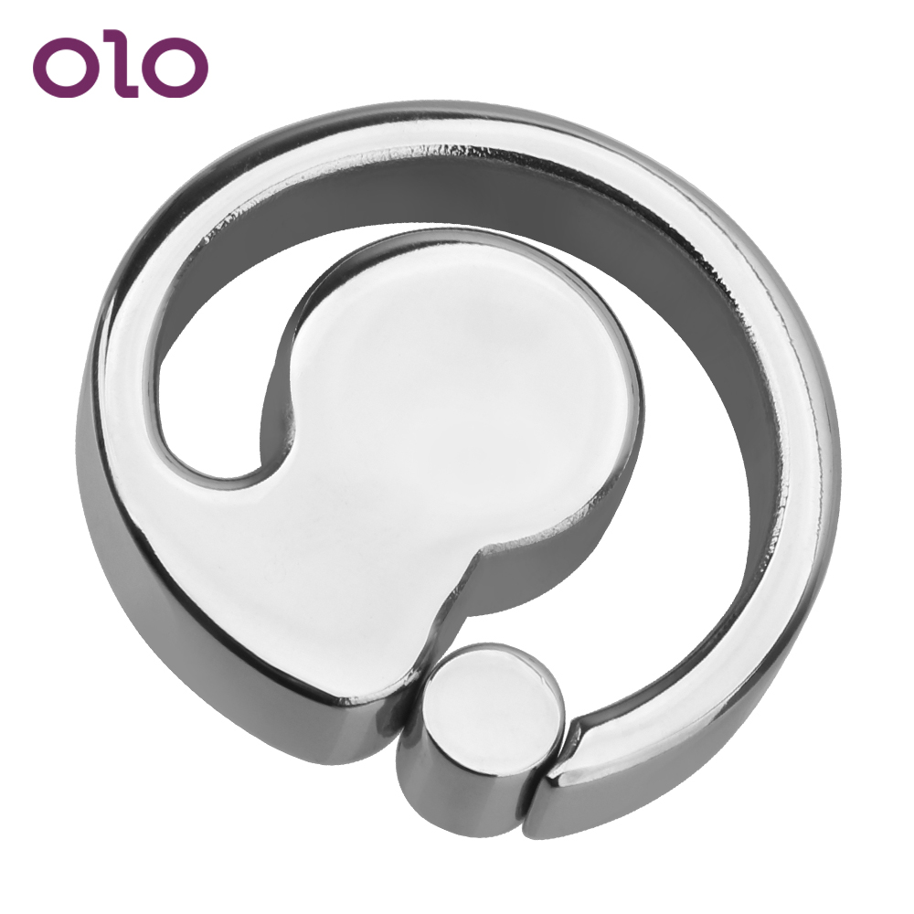 OLO Pendant Bondage <font><b>Ball</b></font> Scrotum Stretcher Scrotum Rings <font><b>Adult</b></font> Product Stainless steel Cock Ring Penis Rings <font><b>Sex</b></font> <font><b>Toy</b></font> <font><b>for</b></font> <font><b>Men</b></font> image