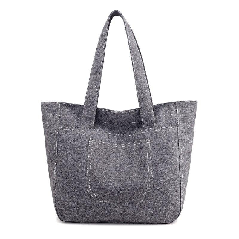 Tote Bag Commuter Bag Canvas Summer New Style Women's Large Capacity One-Shoulder Handbag