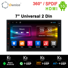 Dvd-Player Radio Android Navi Universal 2-Din Support GPS K2 SIM 4G Ownice 2g-Ram Car