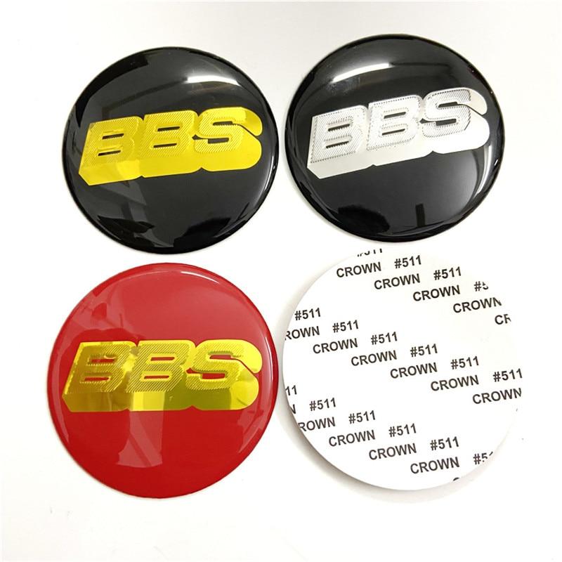 Autocollant de capuchon central de roue de 4 pièces pour les emblèmes d'étiquette de Logo de jantes de BBS 70mm 65mm 60mm insigne de style de voiture