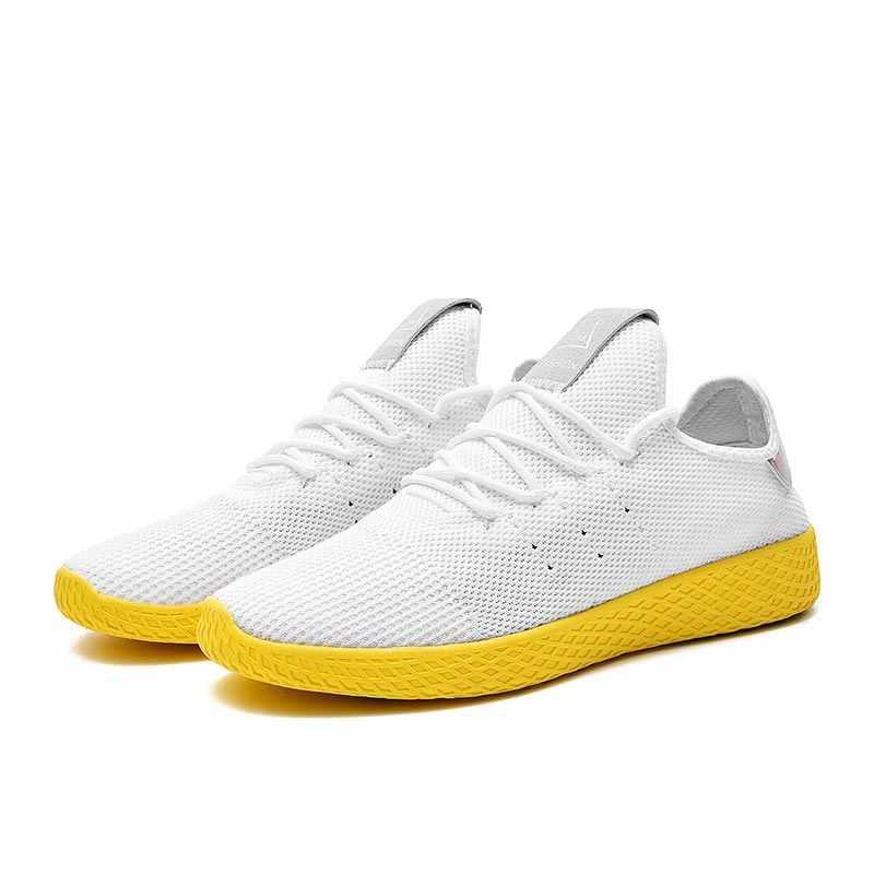 Yaz koşu ayakkabıları erkek ayakkabı spor erkek ayakkabı spor ayakkabı erkek Sneakers tenis erkek nefes beyaz yürüyüş E-204
