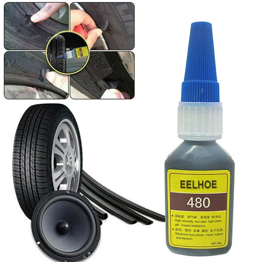 Mighty Tire Repair Glue Tyre Puncture Sealant Glue Bike Car Tire Repair Patch Rubber Cement Adhesive Tire Tube Patch Glue 20ml