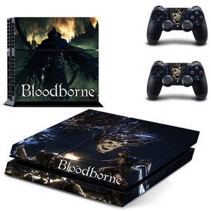 Image 4 - Game Bloodborne PS4 Stickers Play station 4 Skin PS 4 Sticker Decals Cover For PlayStation 4 PS4 Console & Controller Skin Vinyl