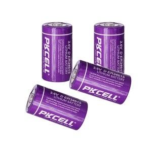 Image 1 - 4Pcs PKCELL 19ah ER34615 34615 3,6 V Größe 34,2X61,5mm 19000MAH Nicht wiederaufladbare D LiSOCl2 batterien lithium batteriesfor 10 jahre