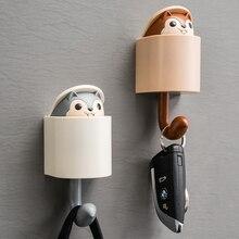 クリエイティブかわいい動物モデル壁フック幼稚園リス置物フック壁装飾の部屋の壁キー収納フック家の装飾