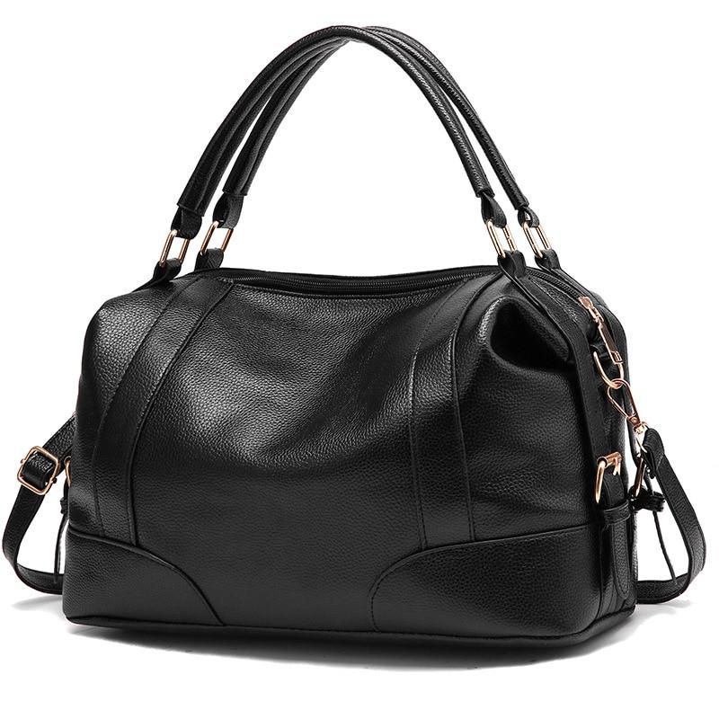 2019 New Style Hot Sale Pu Leather Woman Handbag Female Atmosphere Mother Single Shoulder Messenger Bag Red Black Blue Organ