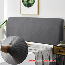 New Home Decor Elastic All-inclusive Bed Head Cover Solid Color Soft Headboard Cover Bed Head Back Protection Dust Cover