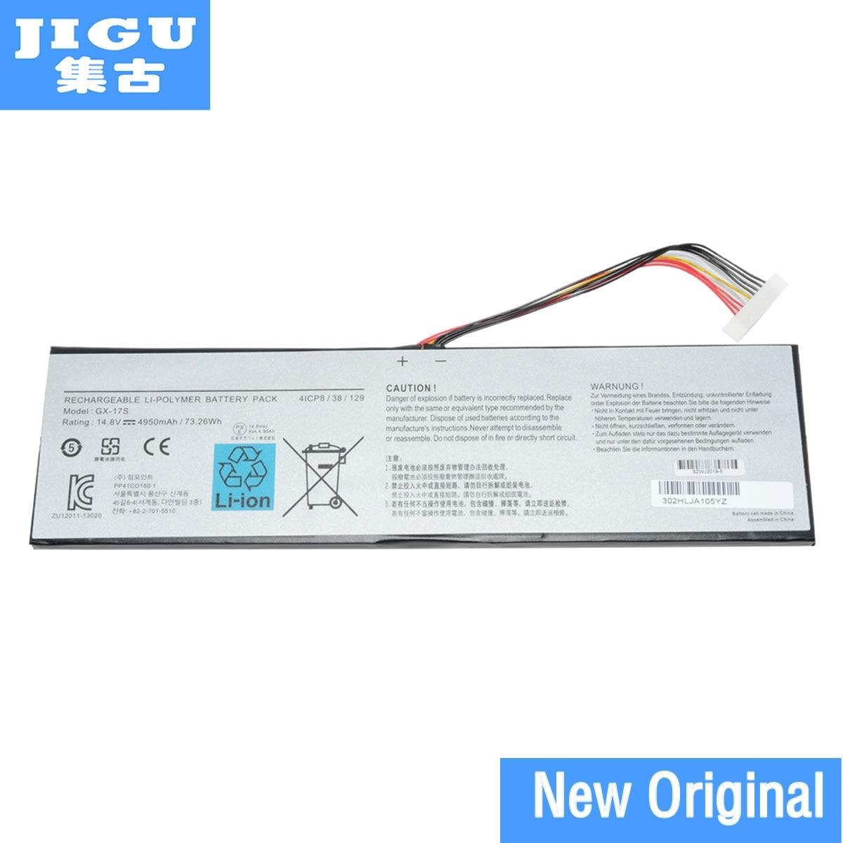 Batterie d'ordinateur portable d'origine JIGU 14.8V 73.26WHGX-17S pour GIGABYTE pour AORUS X3 Plus V5 V3 pour Aorus X7 X3 Plus v7-KL3K4