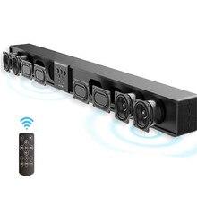 Проектор для домашнего кинотеатра аудиосистема Колонка 5,1 колонки Беспроводной кино объемный звук деревянный звуковая панель с пультом дистанционного управления Поддержка TF USB RCA 60 Вт
