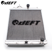 DEFT Aluminum Car Radiator 3Row Full Racing For Honda Civic EK EG Del Sol Manual 92-00 D15 D16 52MM Core