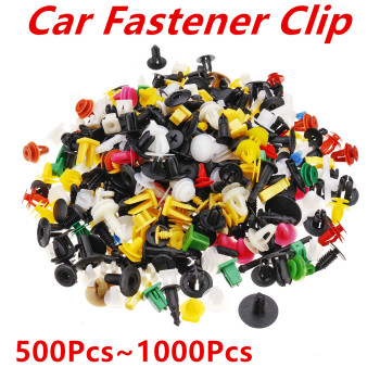 1000Pcs 500Pcs Universal Mixed Auto Fastener Car Bumper Clips Retainer Push Engine Cover Car Rivet Door Panel for Fender Liner image