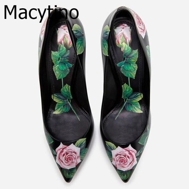 Zapatos de vestir de tacón alto adornados con uñas afiladas, zapatos de cuero rojo para mujer