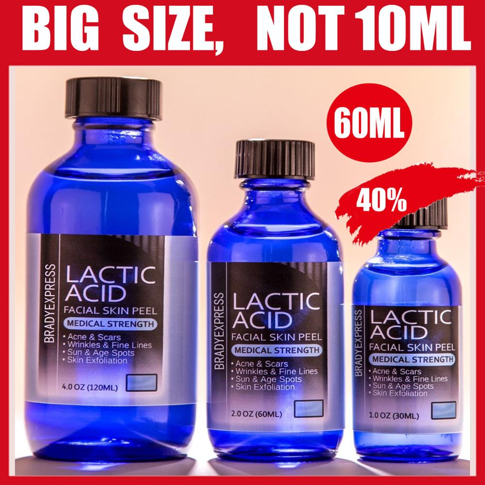 NEW 2 Oz LACTIC Acid Skin Peel- 40% - For: Acne, Scars, Wrinkles, Melasma, Age Spots FREE SHIPPING