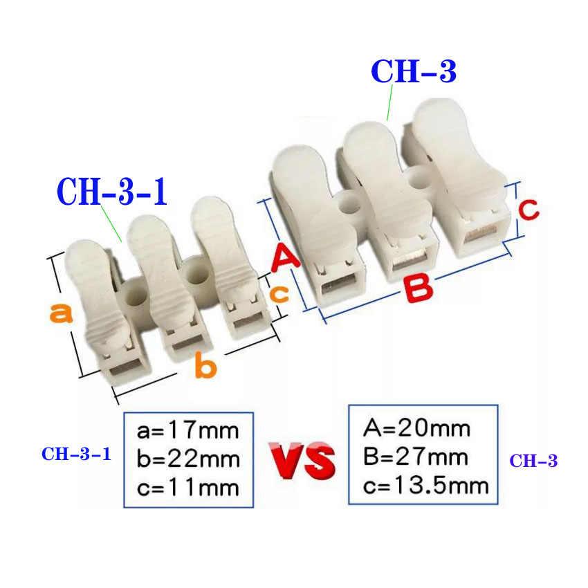 Lente Draad Snelkoppeling 3 p G7 Elektrische Crimp Terminals Block Splice Kabel Klem Gemakkelijk Fit Led Strip 0.5- 4.0