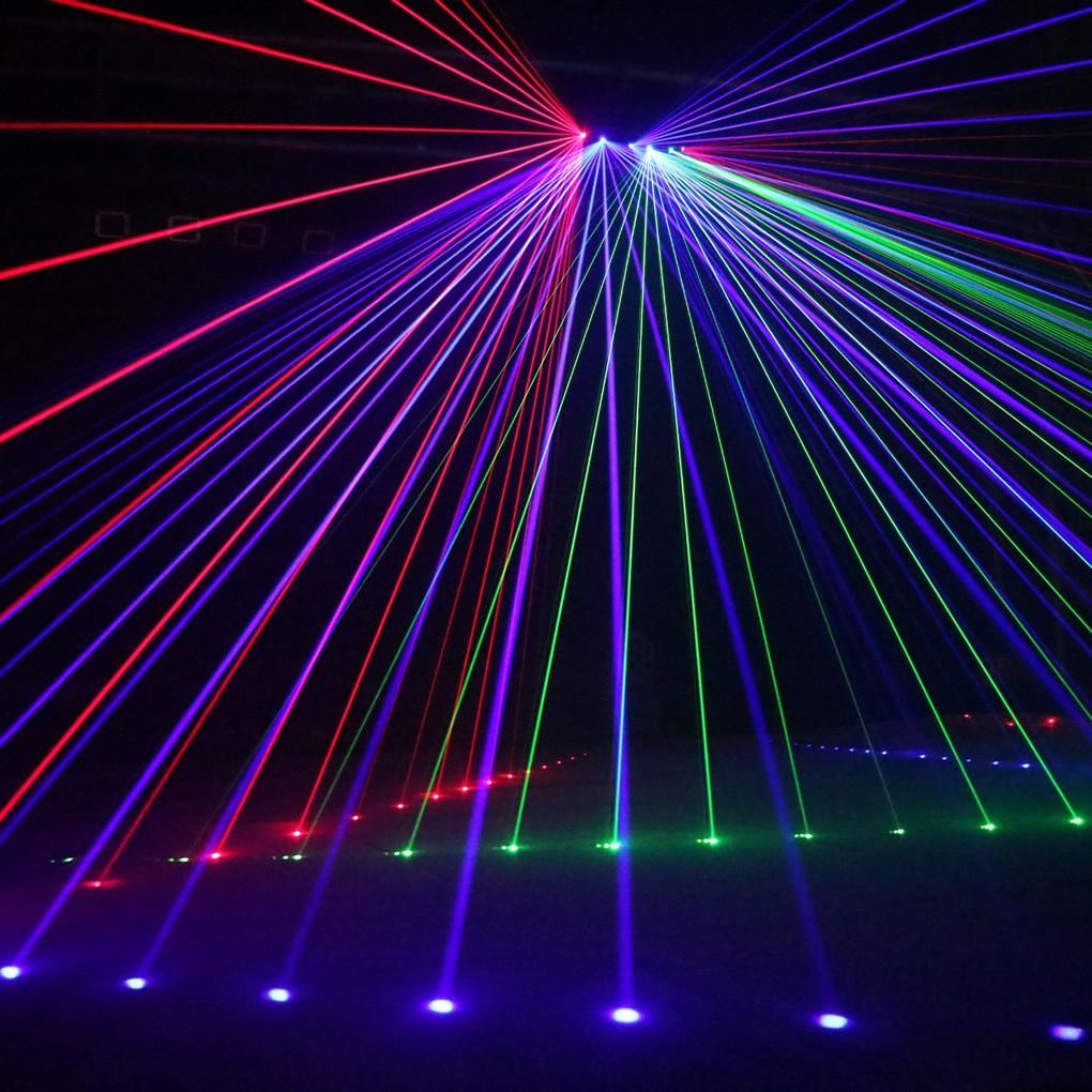 AUCD 6 Lens RGB Meteora Doccia In Movimento Fascio di Raggi Della Lampada 8 CH DMX Della Fase del Laser a Casa di Illuminazione Della Discoteca del DJ Del Partito spettacolo di Luci LED Effetto A X6 - 3