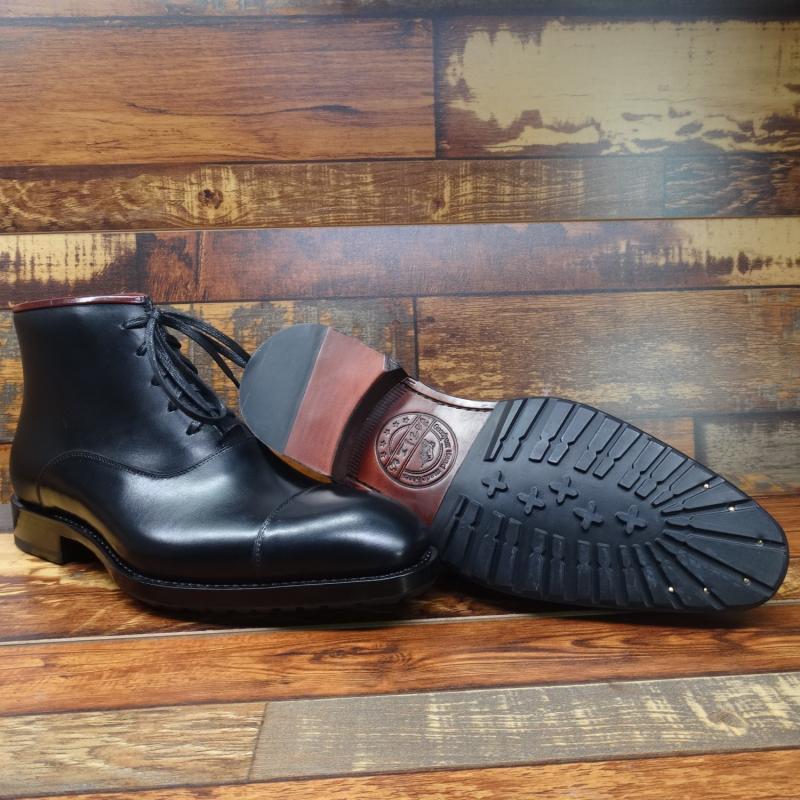 Sipriks/черные модельные ботинки из натуральной кожи для мужчин; модные итальянские Прошитые сапоги с рантом; ботинки оксфорды с закрытым носком; Рабочая обувь - 5