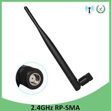 2.4 GHz WiFi anten 5dBi hava RP SMA erkek konnektör 2.4ghz antena wi fi antenne için PCI kartı USB kablosuz yönlendirici wifi güçlendirici